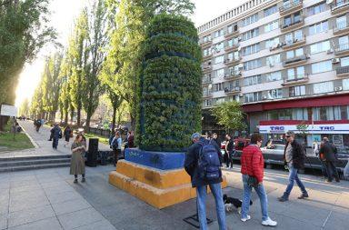 У Києві на постаменті пам'ятника Леніну висадили розмарин
